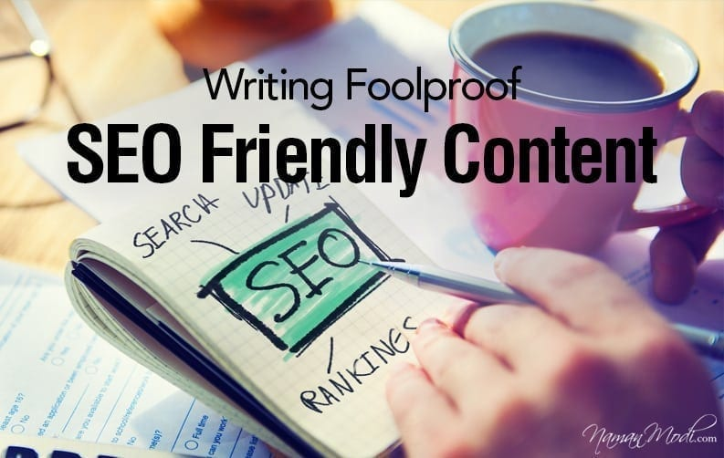 10 Tips for writing foolproof SEO friendly Content NamanModi.com BANNER DESIGN