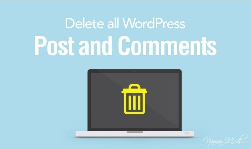 How to Delete all WordPress Post and Comments NamanModi