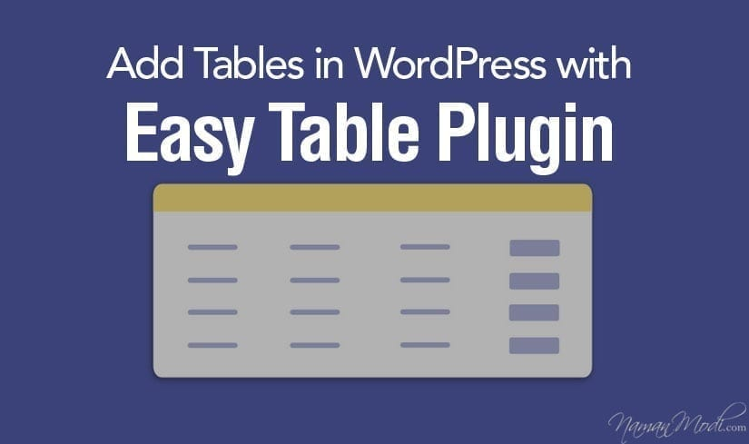 How to Add Tables in WordPress with Easy Table Plugin