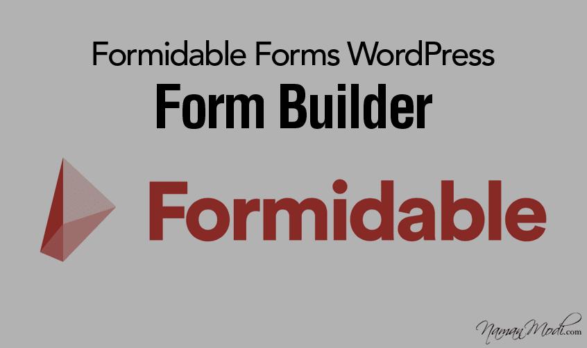 Formidable Forms WordPress Form Builder