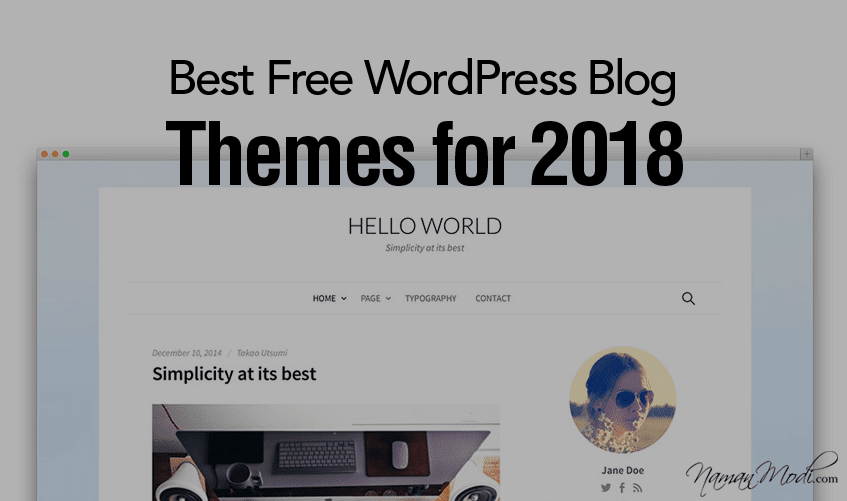 4 Best Free WordPress Blog Themes for 2018 | Naman Modi Digital