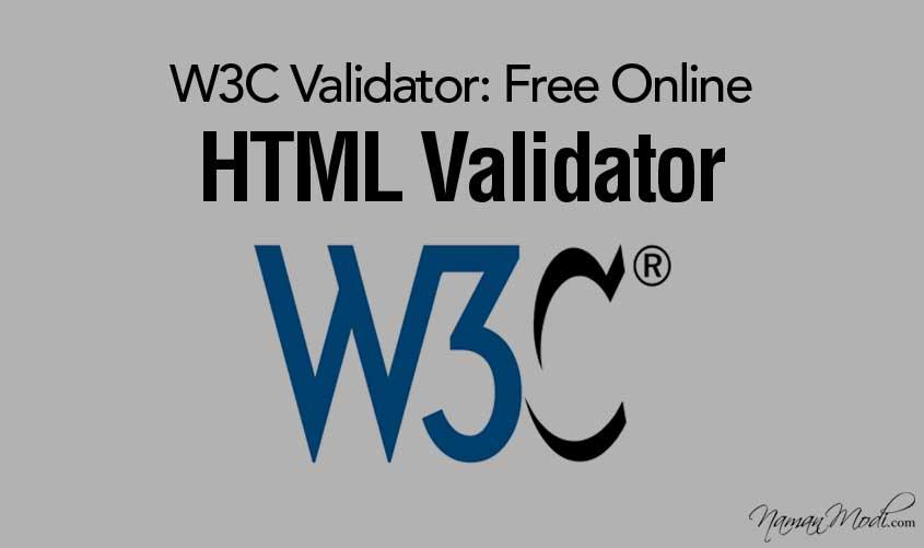 W3C Validator: Free Online HTML Validator