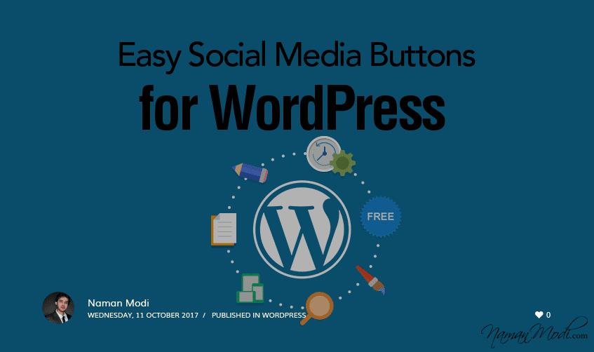 Easy Social Media Buttons for WordPress