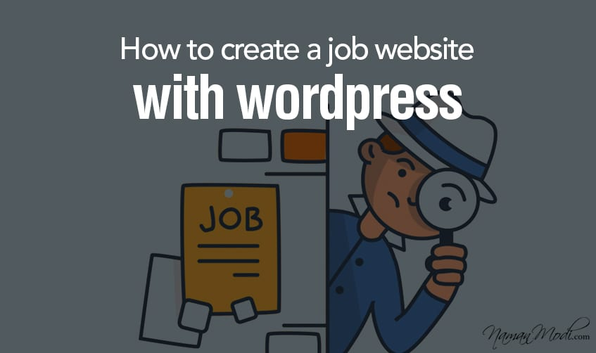 How to create a job searching website in WordPress