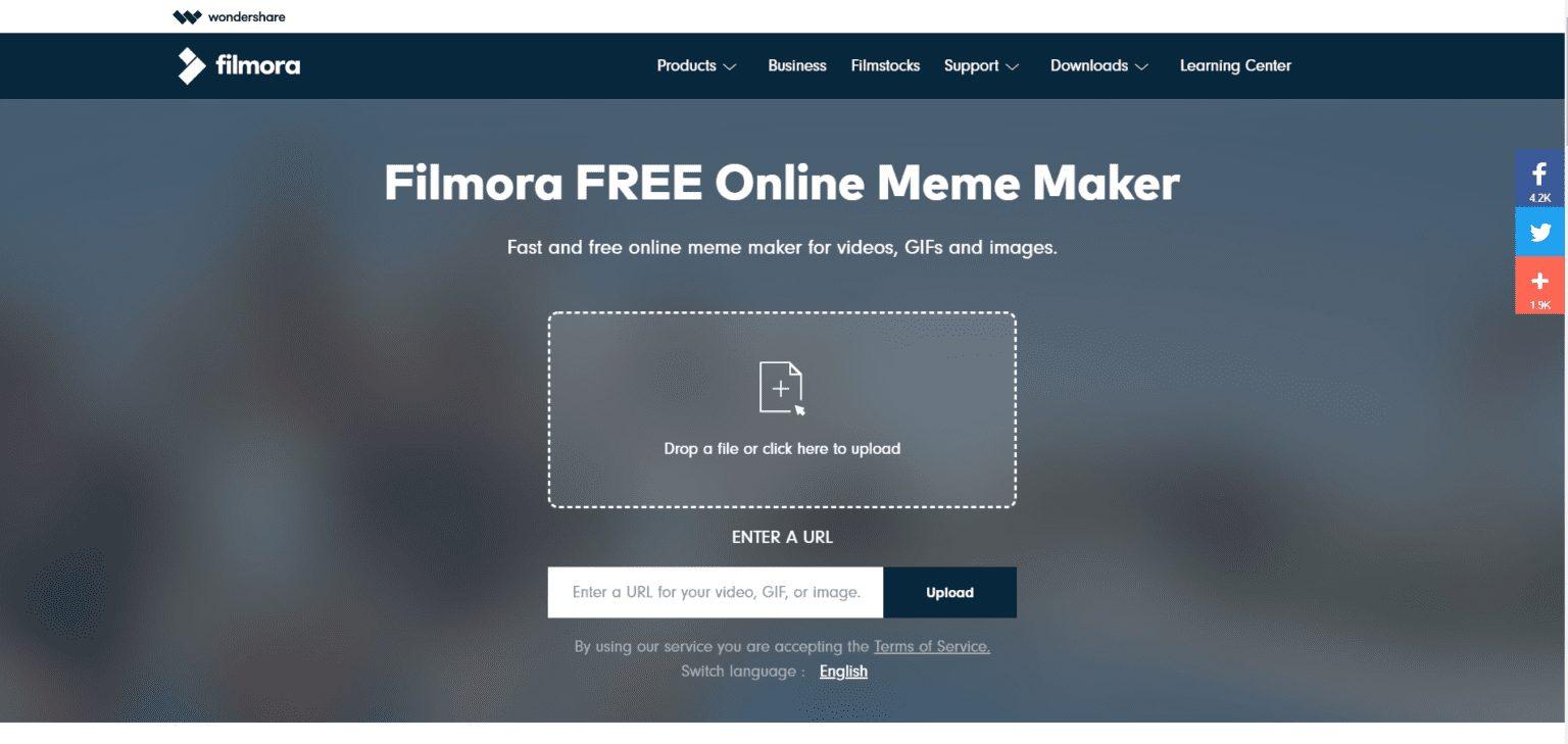 Quick Meme generator- filmora