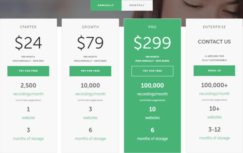 Mouseflow- Pricing