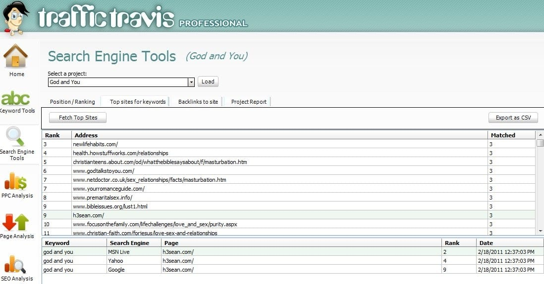 Traffic Travis- Search Engine Tools