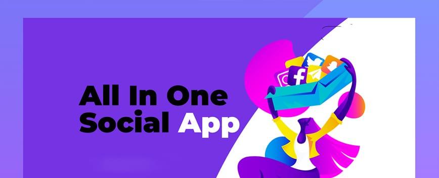 All in One Social App_banner