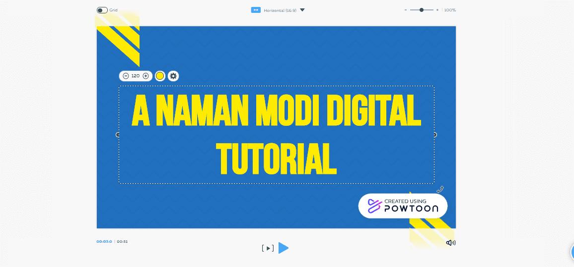 Powtoon- Customize your video